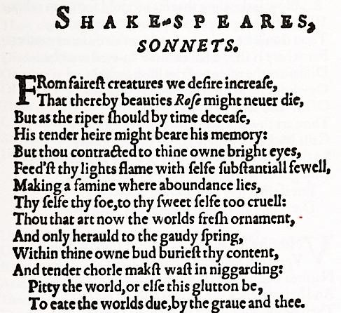 from fairest creatures we desire increase a sonnet by william shakespeare Analysis of william shakespeare's sonnet #1 from fairest creatures we desire increase william shakespeare sought aristocratic patronage sonnet 67.